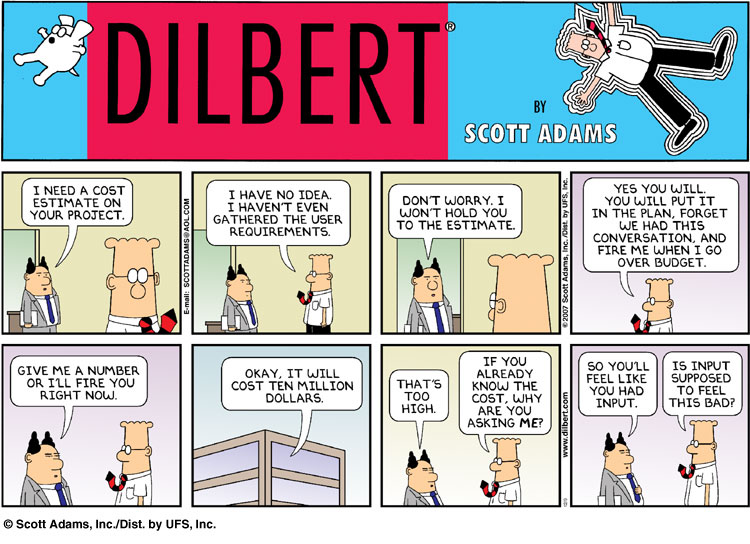 Guest Post By Lizzy Wilbanks Story as well Dilbert also Brake Jokes besides Project Management Lesson Star Wars besides 101883 employee Retirement Options. on dilbert cards